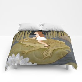 toad in the night Comforters
