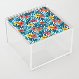 Tropical Hibiscus Pattern Summer Acrylic Box