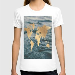 Gold Map in Water T-shirt