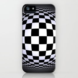 black-and-white -01- iPhone Case