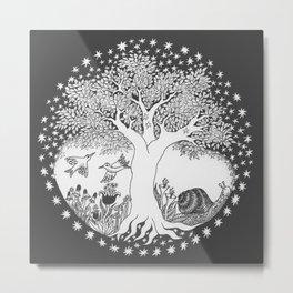 Startree: In the Meadow - Black Metal Print