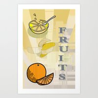 fruits Art Prints featuring Fruits by LoRo  Art & Pictures