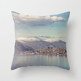 Sognefjord III Throw Pillow