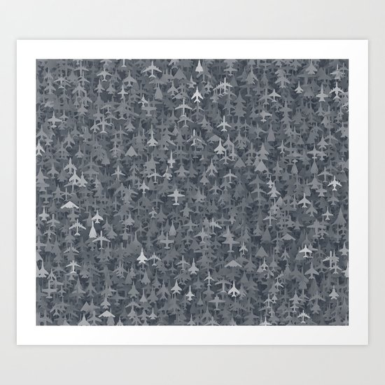 Airplanes camouflage Art Print