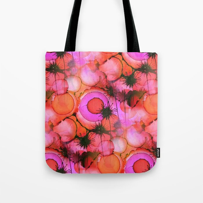 Palm Trees on Sunset Stains Tote Bag