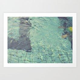 Pool swimming Art Print