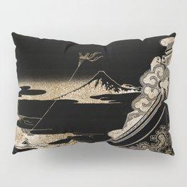 Hokusai's Temple Illustration Remix Pillow Sham