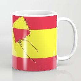 DON QUIXOTE - 400 years and counting - Background Spanish Flag  Coffee Mug