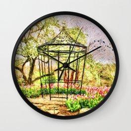 Spring In The Garden Wall Clock