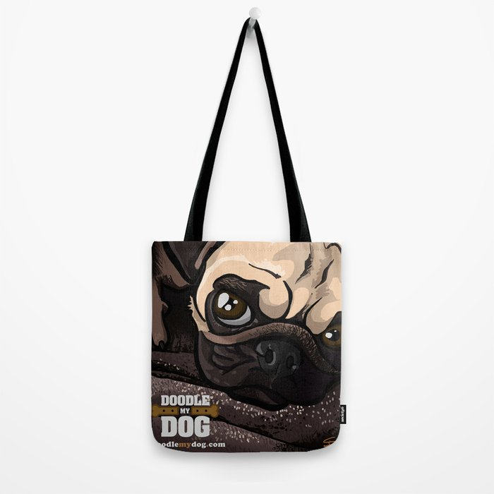Miss Finn (Baby Pug) Tote Bag