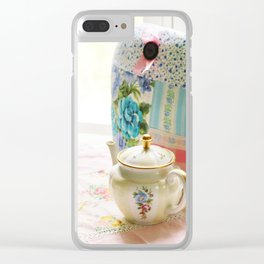 Vintage tea setting Clear iPhone Case