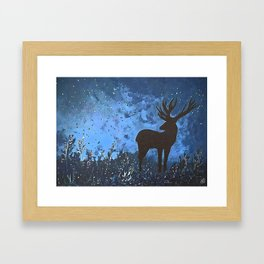 King of the forest | Modern acrylic painting Framed Art Print