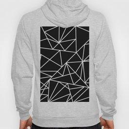 Modern abstract black white geometric pattern Hoody