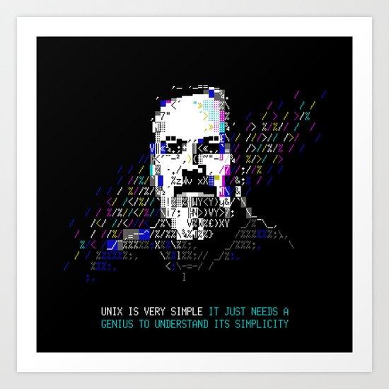 Dennis Ritchie - Tech Heroes series by sanderfocus