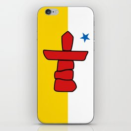 Flag of Nunavut - High quality authentic version iPhone Skin