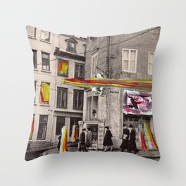 Crossing paths. Throw Pillow