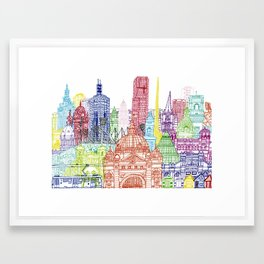 Melbourne Towers Framed Art Print
