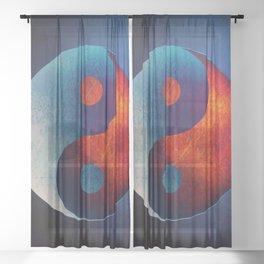 Yin Yang Symbol Sheer Curtain