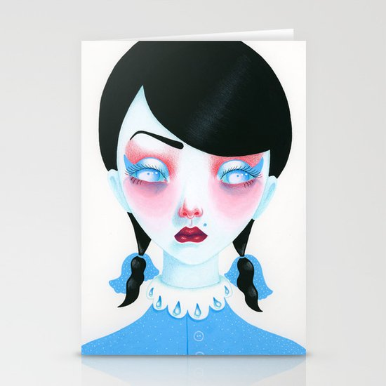 Vampire Girl Stationery Cards