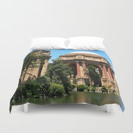View Over The Lagoone To The Palace Of Fine Arts - San Francisco Duvet Cover