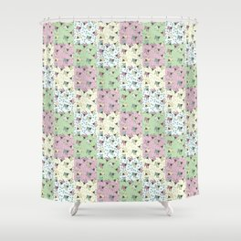 Pajama'd Baby Goats - Small Patchwork Shower Curtain
