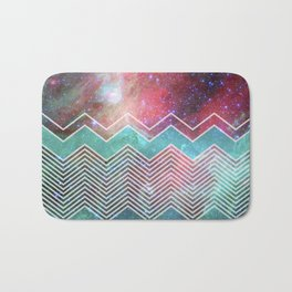 Chevron Galaxy Bath Mat