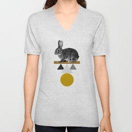 Tribal Rabbit Unisex V-Neck