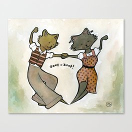 Swing Cats Canvas Print