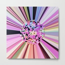 Colorful Confetti Striations Metal Print