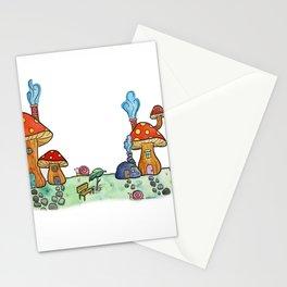Mushroom Village Stationery Cards