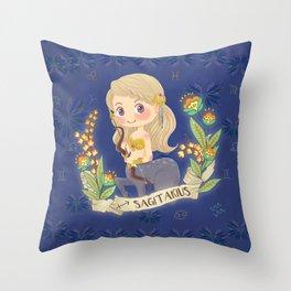 SAGITARIUS my cute horoscope Throw Pillow