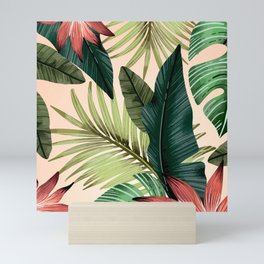 Tropical Leaves Pattern Design Mini Art Print