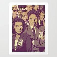 THE X-FILES v1 Art Print