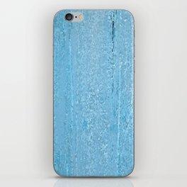 Blue wood iPhone Skin