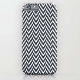 Elegant grey chevron pattern iPhone Case