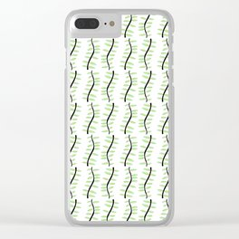 leaf-tree,forest,vegetal,plant,greenery,nature,scrollwork,frond Clear iPhone Case
