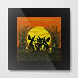 """Halloween fairy witches""""Reading the tea leaves..."""" Metal Print"""