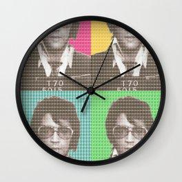 Elvis Mug Shot x 4 Wall Clock