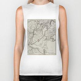 Vintage Staten Island & NYC Harbor Map (1733) Biker Tank