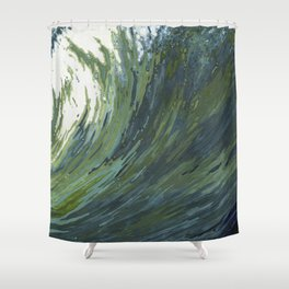 Big Pacific Ocean Wave Shower Curtain