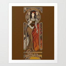 Steampunk Nouveau- Brown Art Print