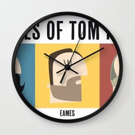 3 Faces of Tom Hardy Wall Clock