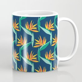 Bird of Paradise Blue Coffee Mug