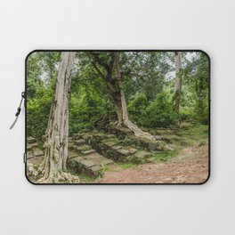 Strangler Fig Trees and Stones in the Angkor Archaeological Park, Siem Reap, Cambodia Laptop Sleeve