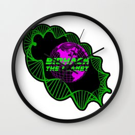 Biohack The Planet Wall Clock