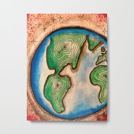 A Starry World Metal Print