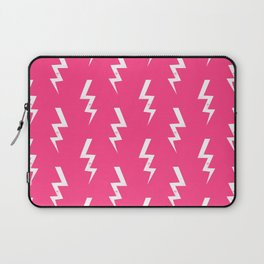 Bolts lightening bolt pattern pink and white minimal cute patterned gifts Laptop Sleeve
