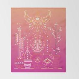 Santa Fe Garden – Pink Sunset Throw Blanket