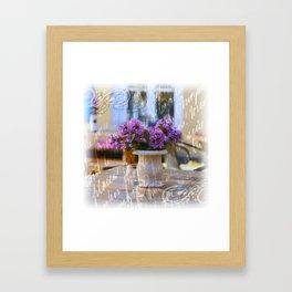 Violet flowers Framed Art Print