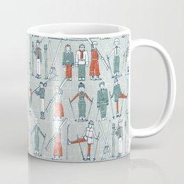 vintage ski linen Coffee Mug